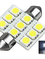 1.9W 12V 6000K 36MM-5050-9MD Lincense Plate And Tail Box Lighting LED Festoon Light for Car