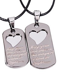 Necklace Choker Necklaces Pendant Necklaces Layered Necklaces Jewelry Thank You Valentine Heart Heart Alloy Women Men Gift Silver