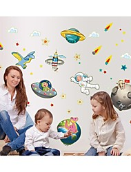 Luminous Wall Stickers Wall Decals, Style Spaceship PVC Wall Stickers
