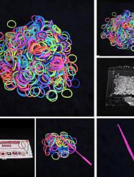baoguang®rainbow tear cor tear fashion set (600pcs bandas, um clips de pacotes, um gancho, um teares)