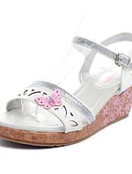 Wedge Heel filles bride arrière Sandales avec papillon Chaussures creux-out (plus de couleurs)