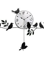 Fashionable Pastoral Style Bird Pendulum Clock XDT-123