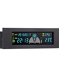 STW Pc Case Front Panel 5.25 Inch 3 Channel LCD Fan Controller Panel with Temperature Display