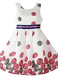 Girl's Flower Print Sundress Party Pageant Kids Clothing Princess Dresses
