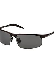Les lunettes de soleil de conduite enveloppe de mode en alliage des hommes polarisés