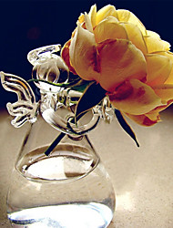 "4.3""H Creative Angel Heart Glass Bottle"