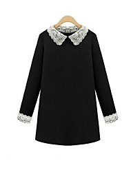 WeiMeiJia® Women's Plus Size Lace Trimmings Collar Dress