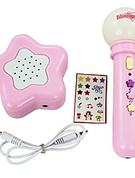 brinquedos eletrônicos instrumento musical microfone funciona com bateria com alto-falante + 9pcs música + 2pcs acompanhamento