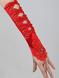 Satin Elbow Length Wedding/Party Glove