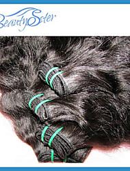 4pcs beaucoup non transformés 6a color1b cheveux brésilienne vierge de vague naturelle de cheveux humains naturel tisse texture