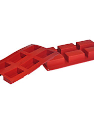 quatre c gâteau de silicone moules casseroles ustensiles de cuisson des moules de cuisson cuboïde couleur rouge violacé