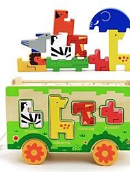 benho животное автобус деревянные головоломки детские игрушки