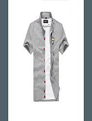 дон моды классический проверка короткий рукав рубашки
