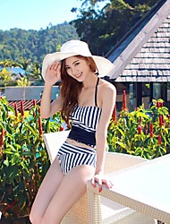 Beach Vintage Navy Wind Halterneck Style Top Bikini Set Swimwear