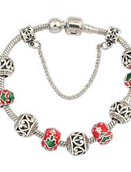 Women's EU&US Openwork Florals Christmas Tree Pattern Wrist Chain Bracelets