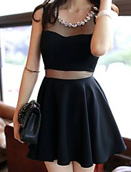 colar de broca gaze das mulheres unidas sexy clube mini vestido fino