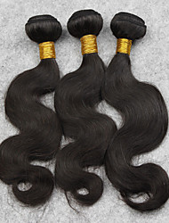 3pcs 22inch 100% Brazilian Human Hair Natural Color Body Wave Eextension 100g/pcs,Free Shipping