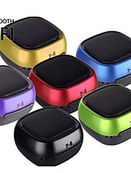 Y-6 Portable Active Wireless Bluetooth Mini Speaker USB Disk & TF Card Player Speaker  (Assorted Colors)