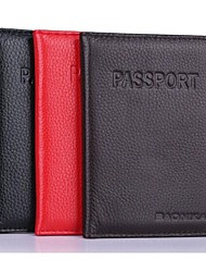 MEGA Women & Men Wallet Genuine Leather Passport Protective Sleeve Travel Passport Holder Cover ID Card