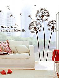 стены стикеры стены наклейки стиль коричневый одуванчика наклейки ПВХ стены