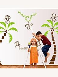 stickers muraux stickers muraux, noix de coco de style du singe sur l'arbre pvc stickers muraux