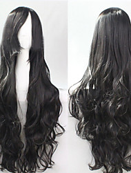Cosplay Black Fashion Must-have Girl High Quality Long Curly Hair Wig