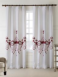 AnTi™ One Panel  Home Fashion Modern Polyester Coffee Lamp Print Curtain
