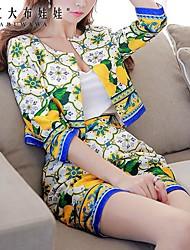 Pink Doll®Women's Casual/Print Medium ¾ Sleeve Short Blazer Suits