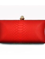 Women's Hot Snake Pattern PU Evening Clutch Bag