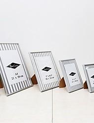 Modern/Contemporary Rectangular Acrylic/Aluminum Picture Frames Set of 4pcs