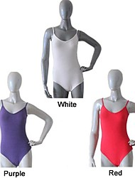 Ballet More Colors Cotton/Lycra Camisole Leotards with V Front and Back Dancing Leotards for Ladies and Girls