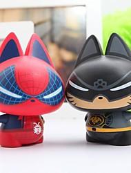 zhuaimao® chat en forme de super figurine de héros pour cadeau créatif collection maison de décoration de voiture décoration (x2)