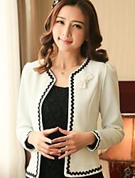 Women's Work Bow  Long Sleeve Short Blazer (Cotton)