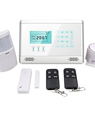 LCD IOS/Android Touch Keys GSM Alarm, GSM Home Alarm, Wireless GSM Alarm  M2E White