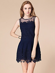 VONIWomen's Casual Sleeveless Dresses (Lace)