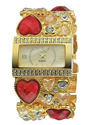 Women's Amazing Golden Bracelet Watch Quartz Analog Charm Designs Decoration Hollow Engraving
