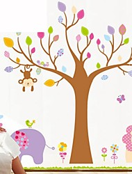 Wall Stickers Wall Decals, Cartoon Tree PVC Wall Stickers