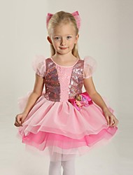 Ballet Children's Polyester/Lycra Sweet Sequins Performance Dress Kids Dance Costumes