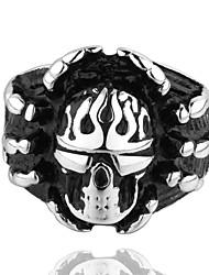 Vintage Punk Rock Style Individual Man Rings Death Right Skeleton&Cross Skull Rings For Men Bike Ring