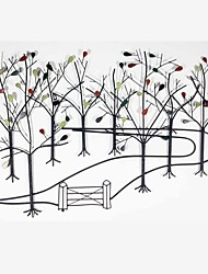 E-HOME® Metal Wall Art Wall Decor, Forest Pattern Wall Decor One PCS