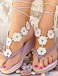 Flower Chain Anklet Decorative Accents for Shoes One Piece