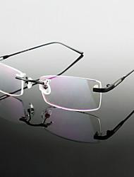 [lentes libres] de titanio rectángulo sin montura gafas graduadas ligeros