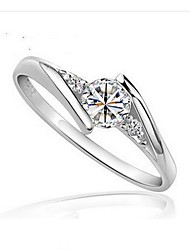 925 Silver Wedding Ring with Cubic Zirconia