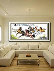 cheval Meian point de croix 150 x 70 x 1 cm