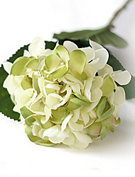 White And Green Mermaid Hydrangeas Artificial Flowers Set 2