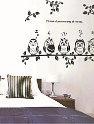 Owls And Branch of Children's Room/ Livingroom/ Bedroom Wall Sticker