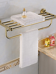 Towel Shelves,Golden Ti-PVD Stainless Steel Material Wall-mounted With Towel Bar