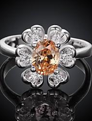 18k bijoux incrustés zircon anneaux de mode plaqué or des femmes Romad