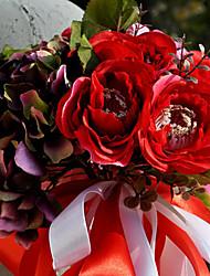 30 Heads Wedding Bouquet Silk Cloth Wedding Bride Holding Flowers