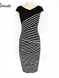 Women's Dress , Chiffon Mini Short Sleeve